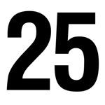 Number 25 Helvetica