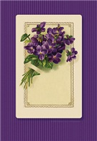 Vintage BOUQUET OF VIOLETS