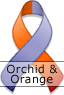 Orchid and Orange Ribbon