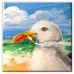 Sammy The Seagull Smokes A Cig