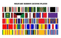 Military Ribbon License Plates