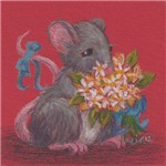 Mouse With Flowers