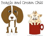 Beagle and Cream Chis