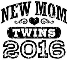 New Mom Twins 2016 t-shirt