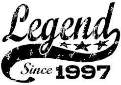 Legend Since 1997 t-shirt