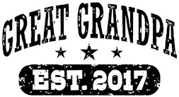 Great Grandpa Est. 2017 t-shirt