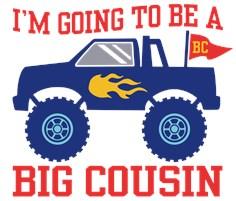 Big Cousin Monster Truck t-shirt