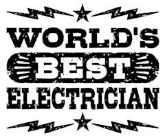 World's Best Electrician t-shirt