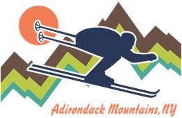 Ski Adirondack Mountains t-shirts