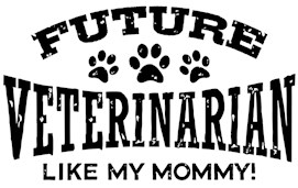 Future Veterinarian Like My Mommy t-shirt