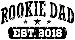 Rookie Dad Est. 2018 t-shirt