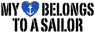 My Heart Belongs To A Sailor t-shirts