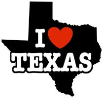 I Love Texas t-shirts
