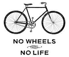 No Wheels No Life Cycling t-shirts
