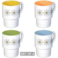 New Colorful Stackable Mugs