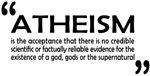 AFA's definiton of ATHEISM