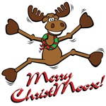 Merry Christmoose [jumping]