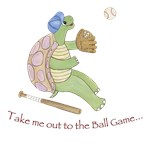Turtle  Baseball - Take me out to the ball game