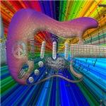 Vivid Colors Peace Guitar