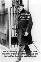 Winston Churchill: Mankind Fear of Truth