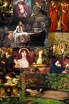 Pre-Raphaelite Collage