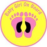 Baby Girl On Board Yellow