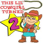 This Little Cowgirl Turned 2