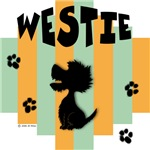 Westie Green/Orange Stripe