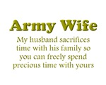 My husband sacrifices...