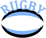 Rugby Ball Light Blue