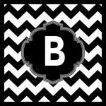 Black and White Monogram Tote Bags