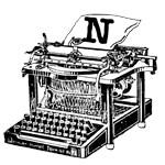 Antique Typewriter Monogrammed Tote Bag