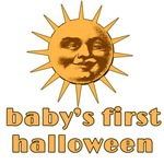Babys First Halloween with Moon