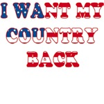 I Want my Country Back Patriotic T-shirt