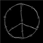 Barbed Wire Peace Sign on T-shirts, Gifts