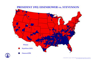 Presidential Maps since 1952