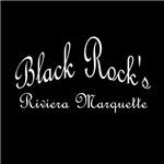 White Font Black Rock's Riviera Marquette