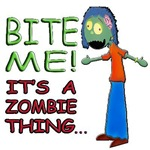 Bite Me Its A Zombie Thing Girl D 175x175