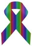 Rainbow Awareness Ribbon B