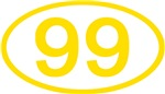 Number Ovals - 50 to 99 (Gold)
