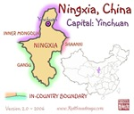 Ningxia, China mini Map