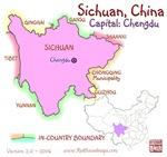 Sichuan, China mini Map
