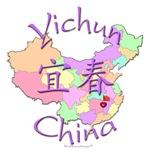 Yichun Color Map, China