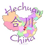 Hechuan Color Map, China