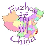 Fuzhou China Color Map
