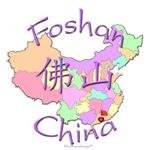 Foshan China Color Map