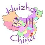 Huizhou China Color Map