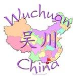 Wuchuan China Color Map