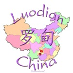 Luodian China Color Map