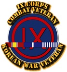 Army - IX Corps w Korean Svc